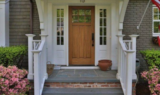 Front Porch Decorate Brick Porches