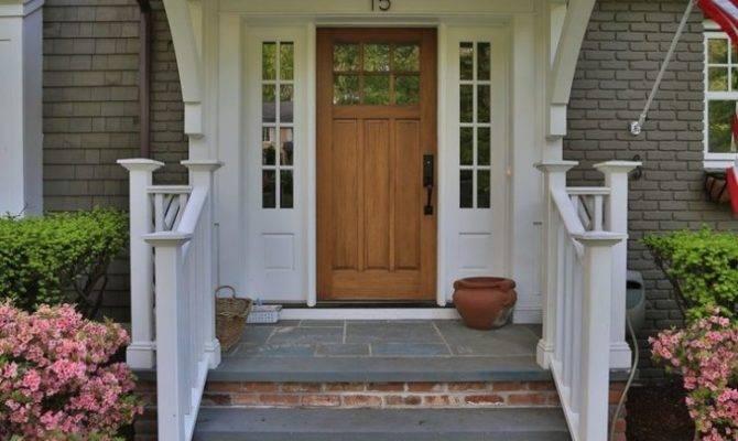 Front Porch Decorate Brick Porches