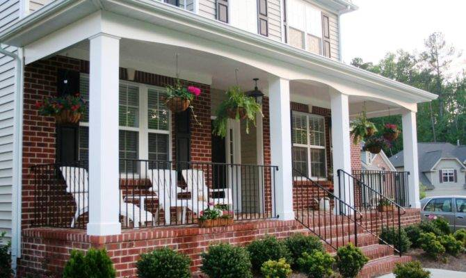 Front Porch Designs Brick Homes Home Insight