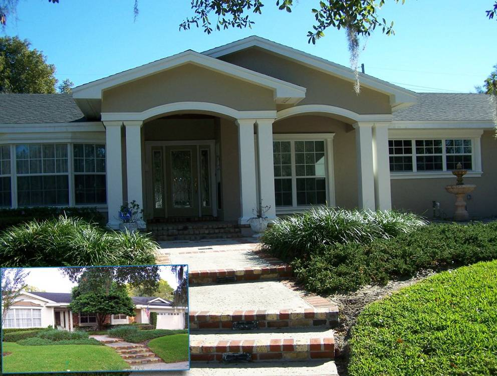 Front Porch Designs Ranch Style Homes Home Design Ideas House Plans 10071