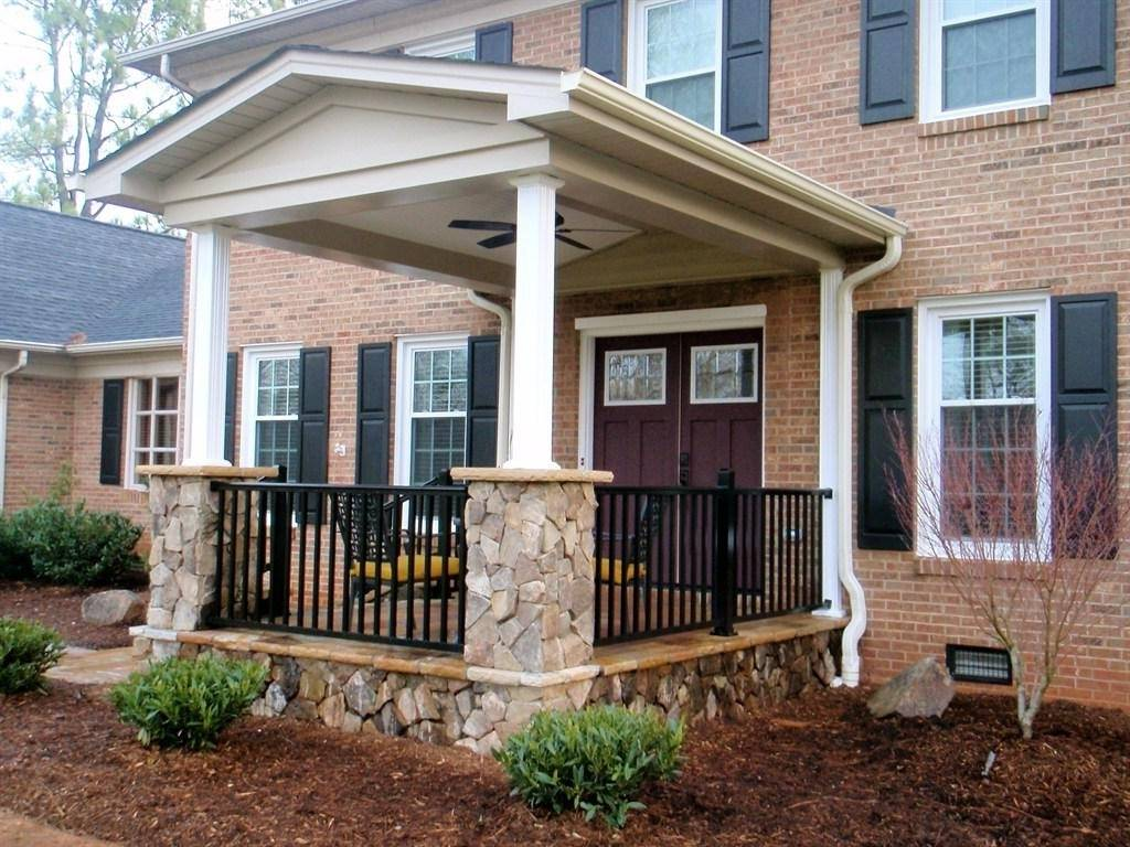 Front Porch Ideas Small Houses Ranch Style Homes - House Plans