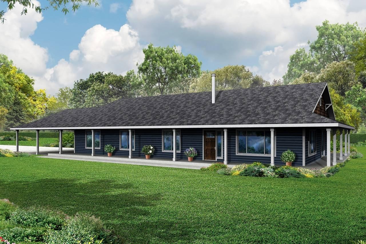 Front Porch Plans Ranch House - House Plans  #25
