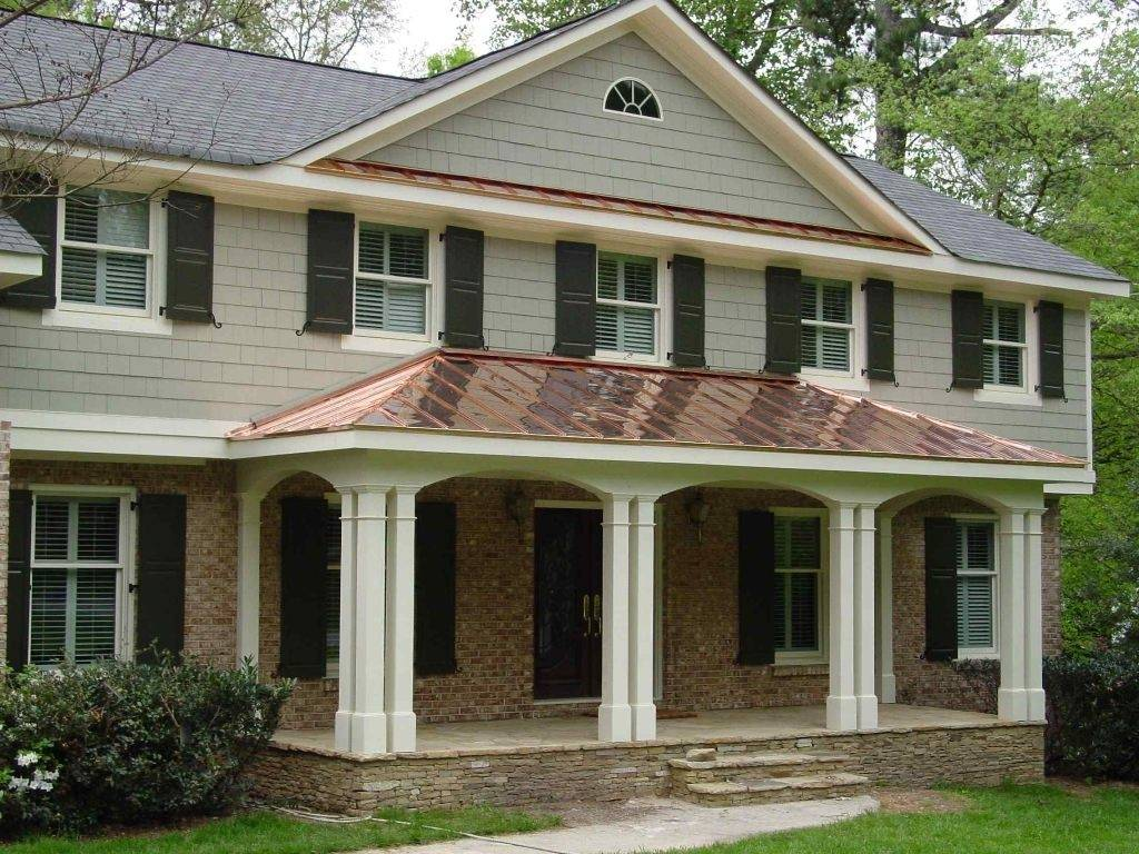 Front Porches Colonial Homes - House Plans  #15