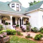 Front Rear Farmhouse Porch Spring But Cares
