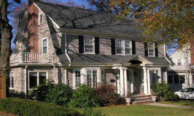 Front Stoop Design Dutch Colonial Home New England