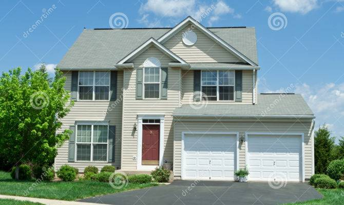Front Vinyl Siding Single House Home
