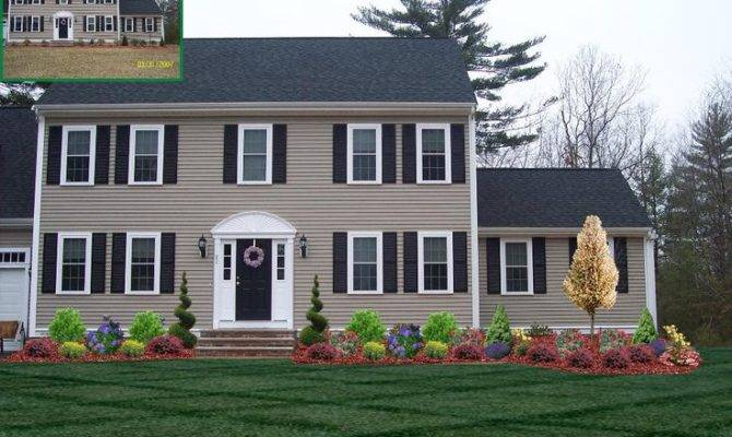 Front Yard Landscaping Ideas Two Story House Home