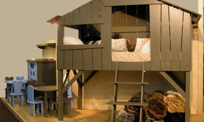 Fun Bed Designed Like Tree House Lits Cabanes Home Building