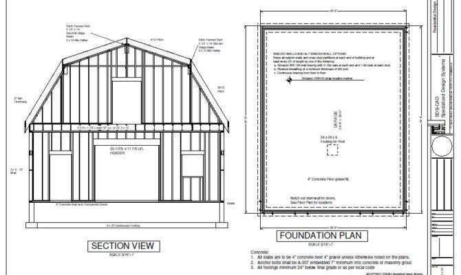 Gambrel Barn Workshop Plans Blueprint