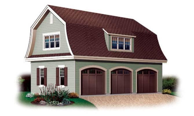 Gambrel Garage Plan House Plans Home Designs
