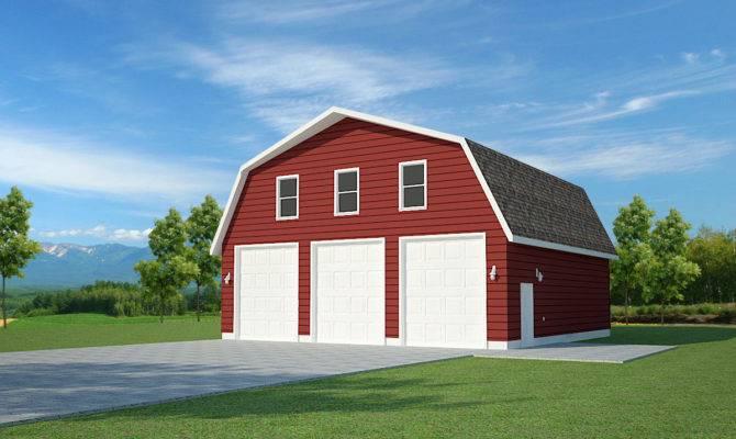 Gambrel Roof Horse Barn Plans