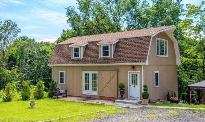 Gambrel Style Story Garage Barn Yard Great Country Garages