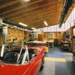 Garage Design Large Space High Ceiling Ideas Simple Inside