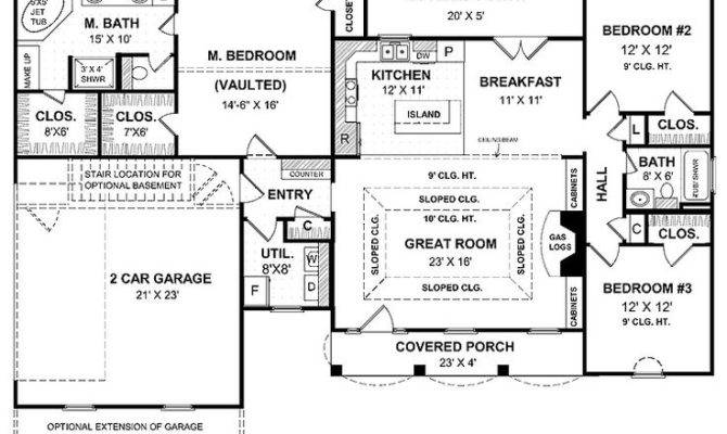 Garage Floor Plans Floorplans Bedrooms Master Bedroom House