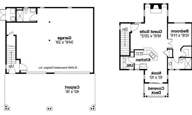 Garage Guest Suite Plans Floor Plan