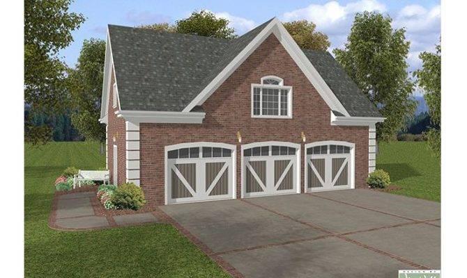 Garage Loft Plans Car Plan Brick Ade Design