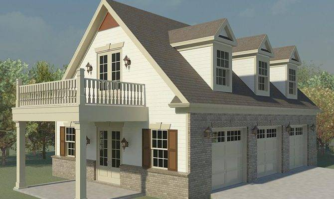 Garage Loft Plans Three Car Plan Future Guest