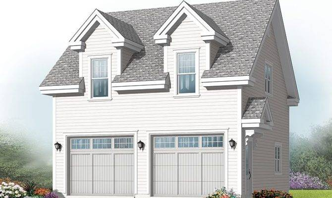 Garage Loft Plans Two Car Plan Cape Cod
