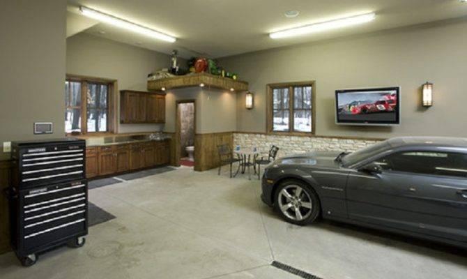 Garage Man Cave Designs Toilet Area