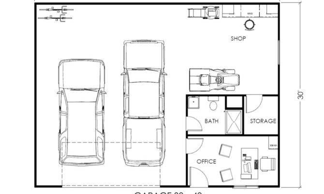 Garage Office Workspace True Built Home