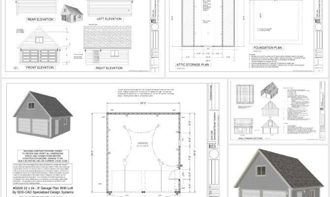 Garage Plan Loft Dwg Pdf