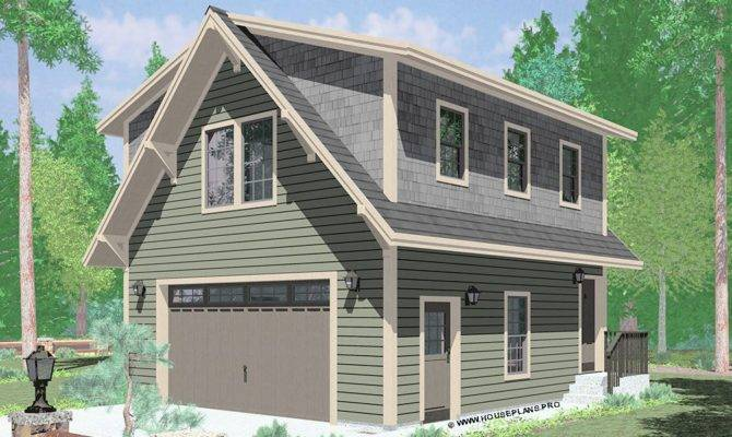 Garage Plans Living Space Above Modern Style Home