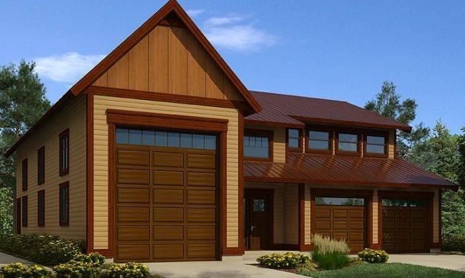 Garage Plans Loft Plan Storage Two