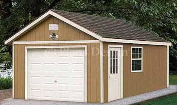 Garage Plans Shed Building Blueprints Design