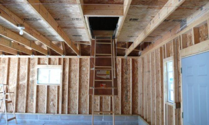 Garage Room Attic Truss Staircase Ladder
