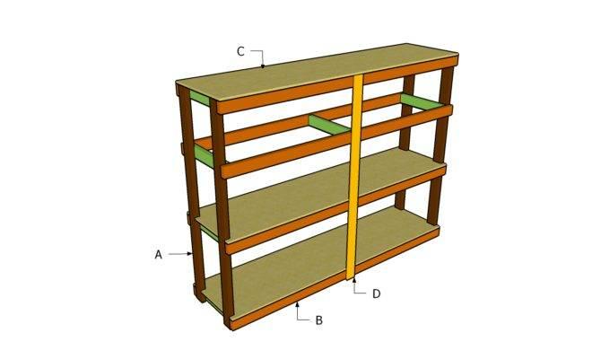 Garage Shelving Plans Outdoor Diy Shed Wooden