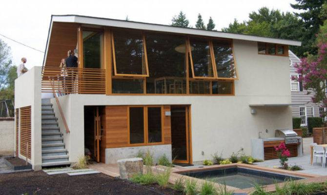 Garage Transformed Into Guest House Studio