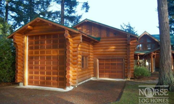Garages Custom Log Homes Home Builders Designs