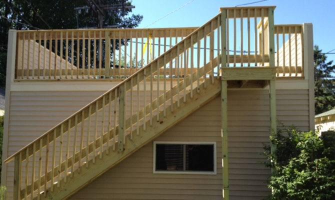 Garages Reverse Gable Flat Roof Deck Custom