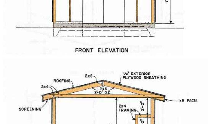 Garden Shed Blueprints Plans Crafting Gable