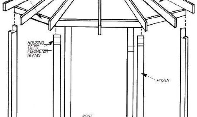 Gazebo Blueprints Diy Plans Hexagonal