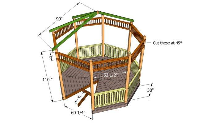 Gazebo Plans Howtospecialist Build Step