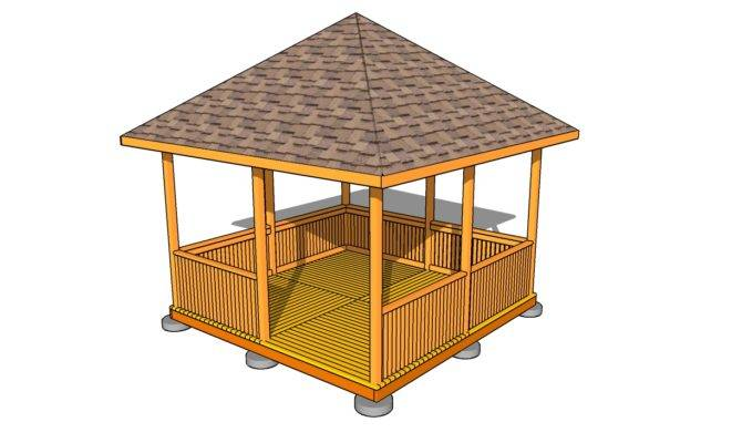 Gazebo Roof Plans Outdoor Diy Shed Wooden Playhouse