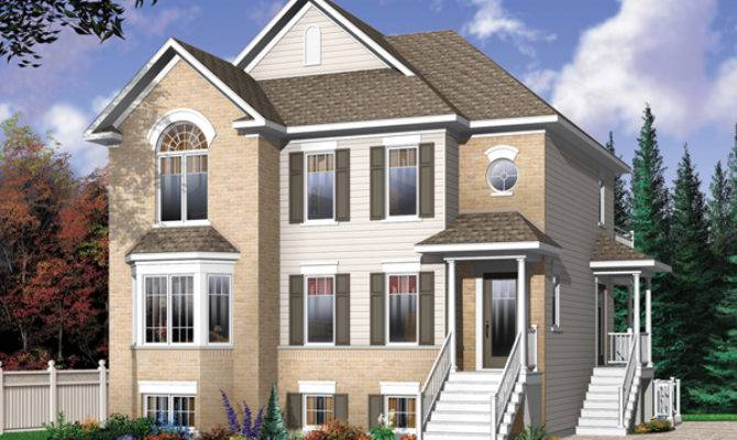 Geary Place Triplex Townhouse Plan House Plans