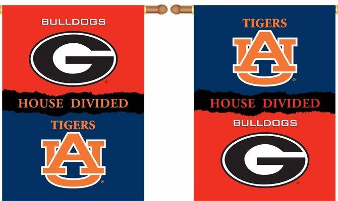 Georgia Auburn Premium House Divided Two Sided Banner