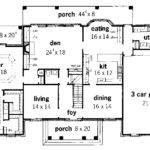 Georgian House Plan First Floor Plans More