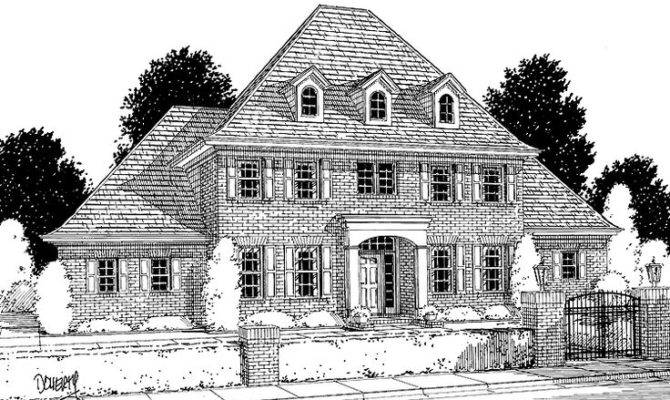 Georgian House Plan Homes Pinterest