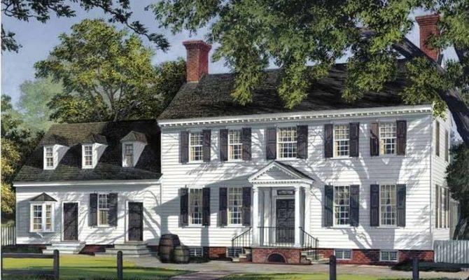 Georgian House Plans Imitate English Architecture Period