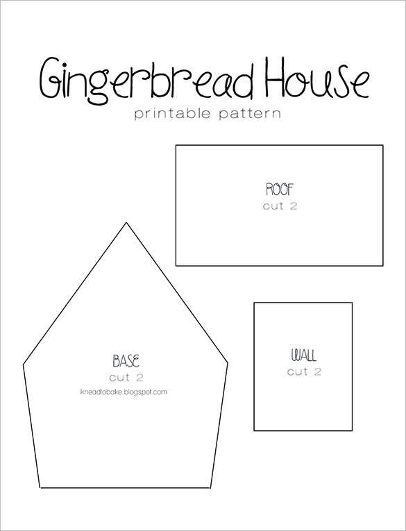 Gingerbread House Templates Premium - House Plans | #105026