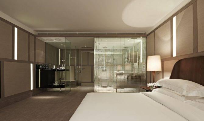 Glass Wall Bathroom Bedroom Design Zeospot