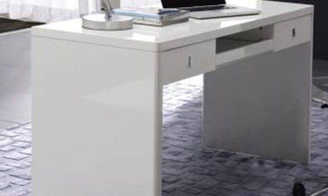 Glossy White Floating Desk Savvy Shopper Direct