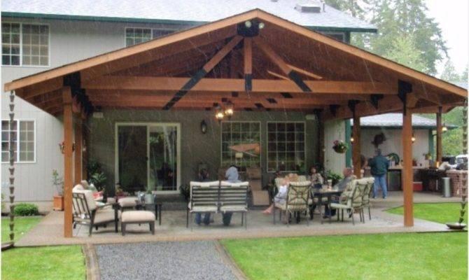 Good Looking Backyard Covered Patio Design Ideas