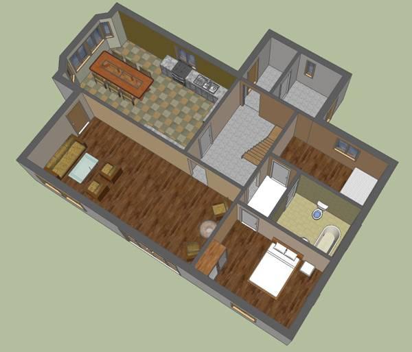 Google Sketchup Floor Plan House Plans 139726