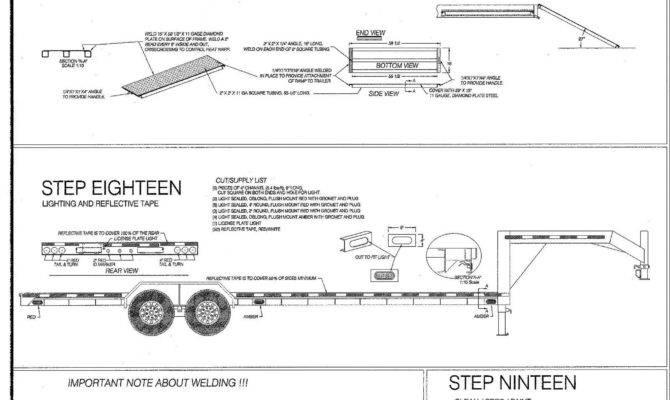 Gooseneck Trailer Plans Blueprints Model