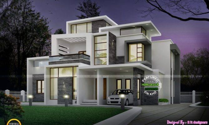 Grand Contemporary Home Design Kerala Floor Plans