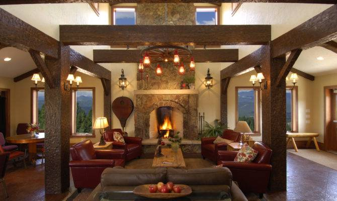 Great Room Fireplace Big